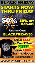 p5audio black Friday sale save 50% and get free apparel
