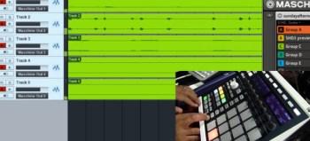 Maschine recording audio live into Studio One 2.5
