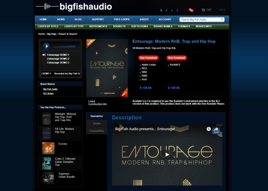 Big Fish Friday: Entourage Modern RnB, Trap, and Hip Hop Library Review