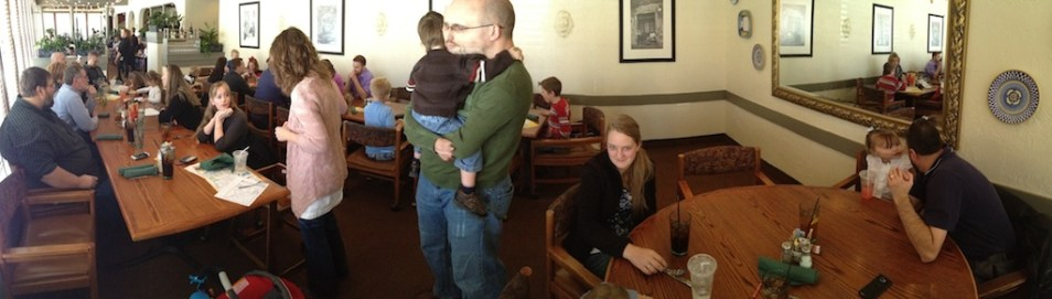 You sometimes get some pretty interesting effects when taking panoramic photos.
