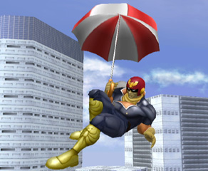 Have a Parasol handy and you'll float to the ground like a feather.  Yeah! It's awesome.