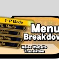 Menu breakdown