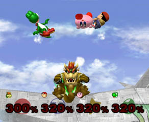 Hit by a Bowser Bomb at that percent? You're all doomed.