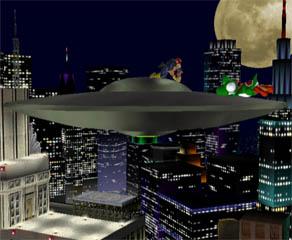 A UFO appears! Slippery slidey.