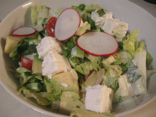 Recipe: Chicken and Romaine Salad with Peas, Feta and Mint
