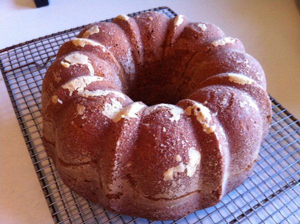 Pumpkin Spice Bundt Cake With Salted Caramel Sauce Recipe ...