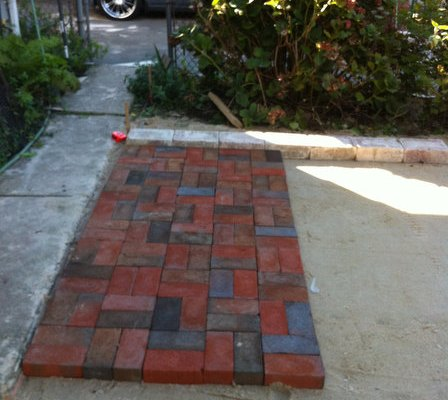 Patio Update: We Lay the First Brick