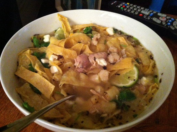 Chicken Soup with Lime and Hominy (Sopa de Lima)