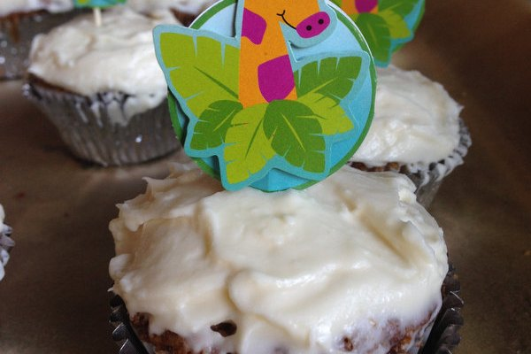 Carrot Cupcakes with Maple-Cream Chese Frosting