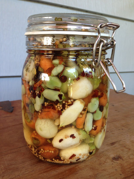 No-Cook Pickles: Baby Carrots and Turnips