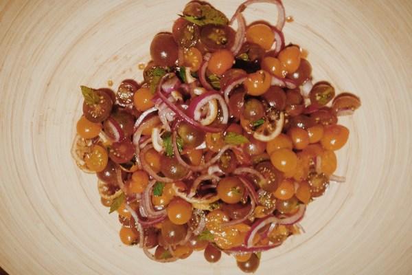 Tomato Salad with Roasted Lemon
