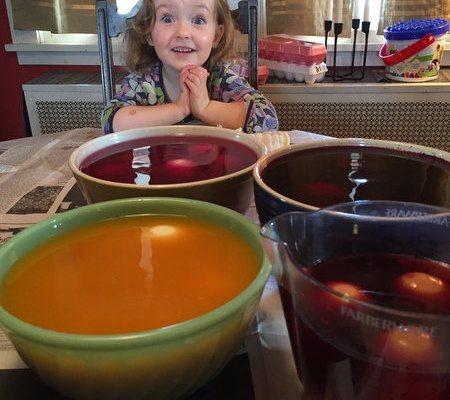 Dyeing Easter Eggs!