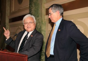 Left: Congressman Mike Honda (D-CA) and Congressman Rush Holt (D-NJ)