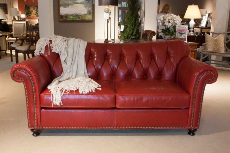 Large Of Red Leather Sofa
