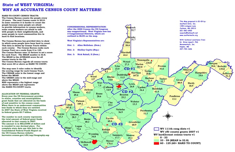 West Virginia Census Maps Southern Echo