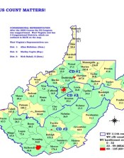 West Virginia Census Maps Southern Echo - West virgina map