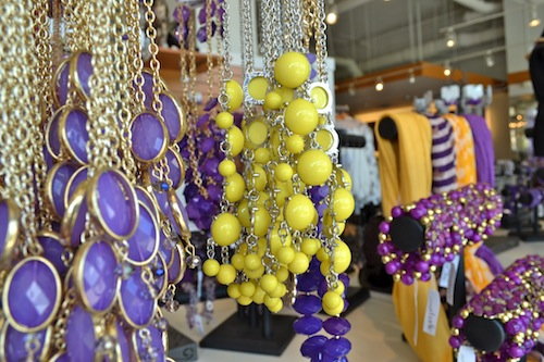 Purple and Gold Necklaces