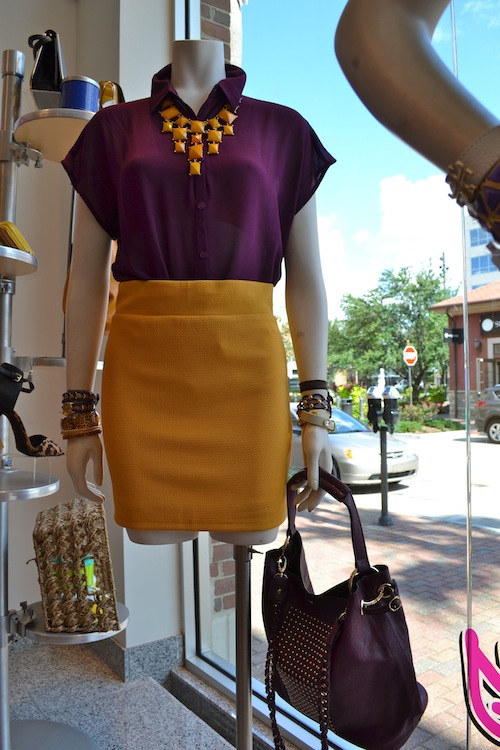 Purple and Gold Outfit