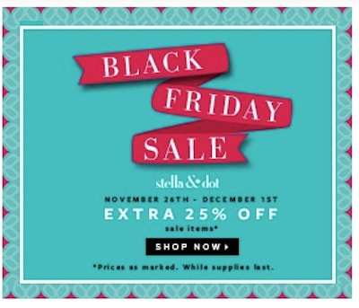 Stella and Dot Black Friday