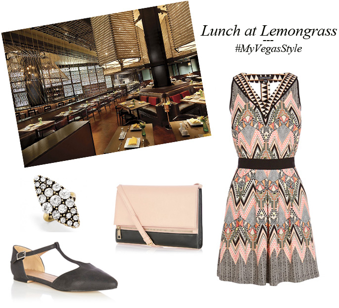 What to wear to lunch at Lemongrass | Aria Las Vegas #myvegasstyle