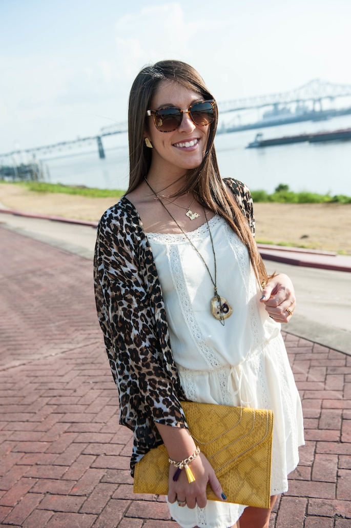 LSU Tailgating Outfit with Animal Print