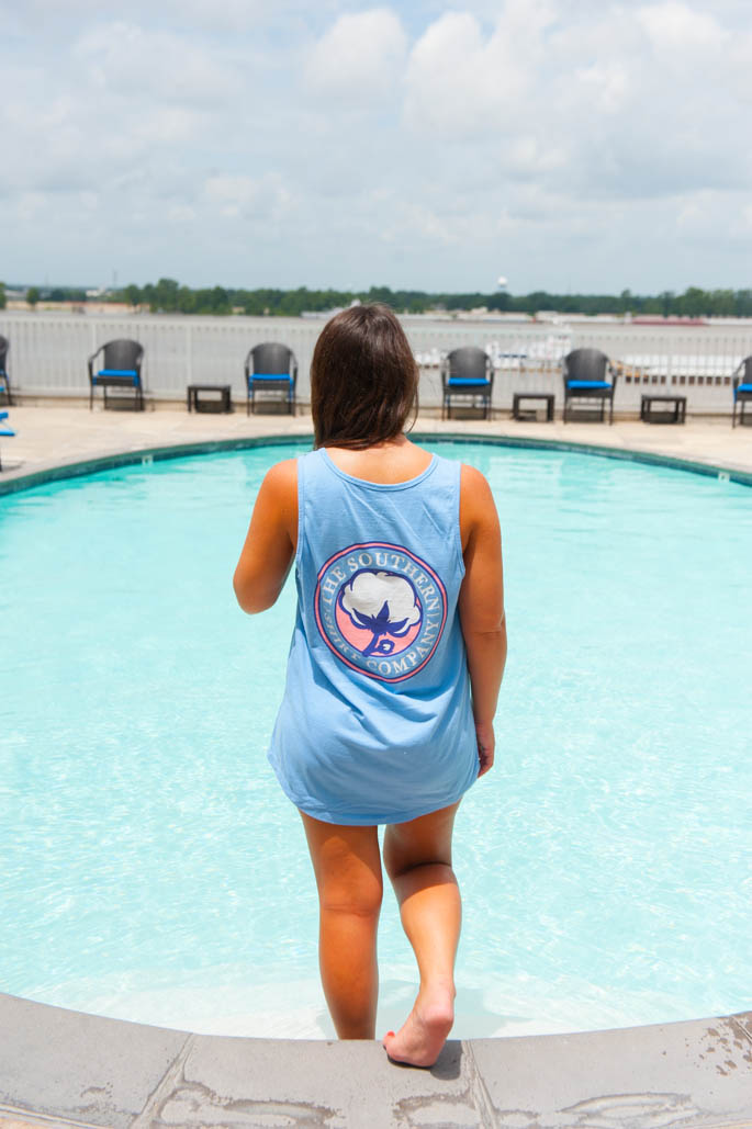Southern Shirt Company Pocket Tank makes the perfect swimsuit coverup!
