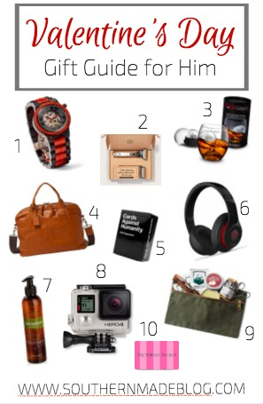 Valentine's Day Gift Guide for Him | Southern Made Blog