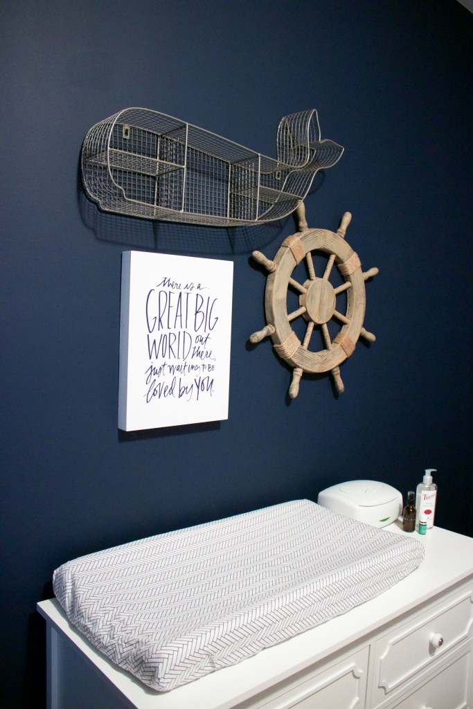 Nautical Nursery Reveal | Southern Made Blog | @baby_relax dresser & whale available at @Target.
