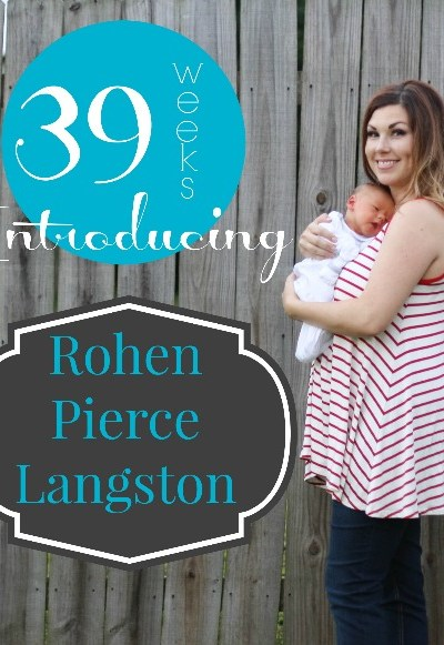 39 Weeks | Introducing Baby Boy