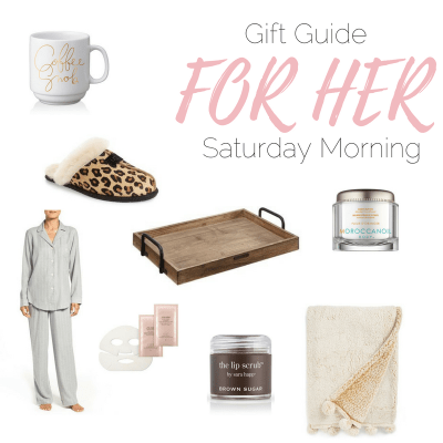 Nordstrom gift guide for her and everything is under $100! These make for a perfect Saturday morning of pampering! Any girl's dream!