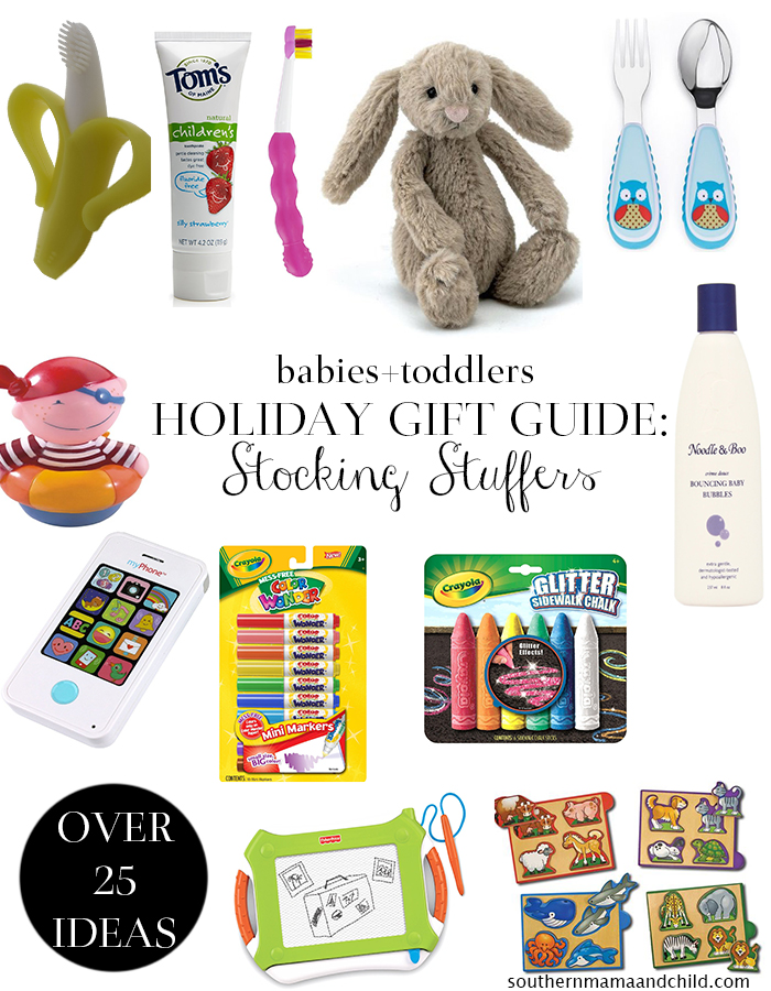 Holiday gift guide toddler and baby stocking stuffer for Christmas gift ideas stocking stuffers