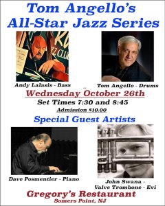 Tom Angello's All Star Jazz Series 10/26