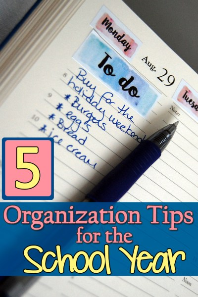 5 Organizational Tips for the new school year