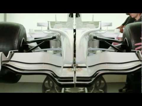 Así es un coche de F1 cortado por la mitad