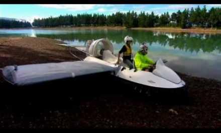 Hovercraft convertido en aerodeslizador que permite volar