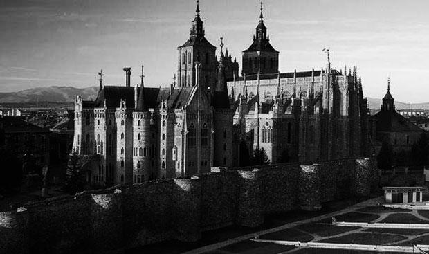 Catedral de Astorga en blanco y negro