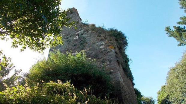 Estado actual de la torre de Caldaloba (Lugo)