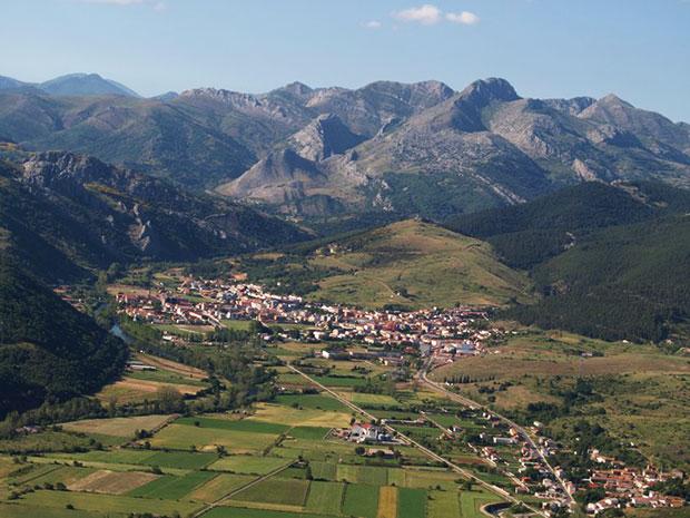 Vista aérea de Cistierna