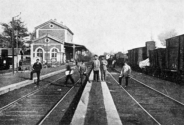Estación de Astorga en una foto de época