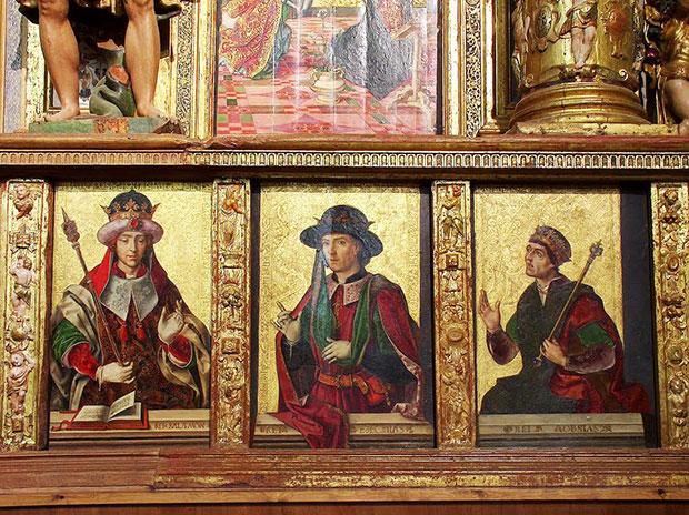 Tablas de Berruguete en la iglesia de Santa Eulalia, Paredes de Nava (Palencia)