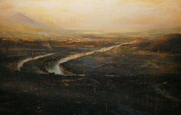 Uno de los trabajos de José Abel de la exposición