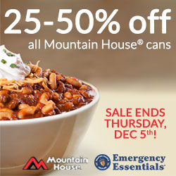 Mountain House Sale Continues Through December 5th