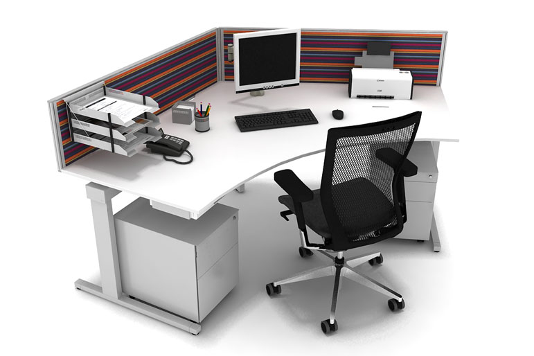 Lovely Picture Of Techo Horizon T Office Desk Systems
