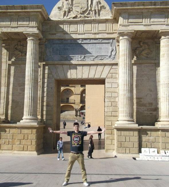 córdoba, puerta del puente romano, spain, españa