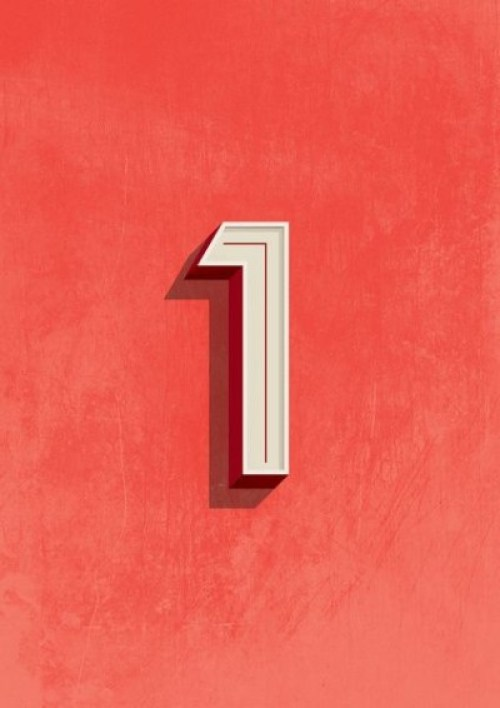 number typography