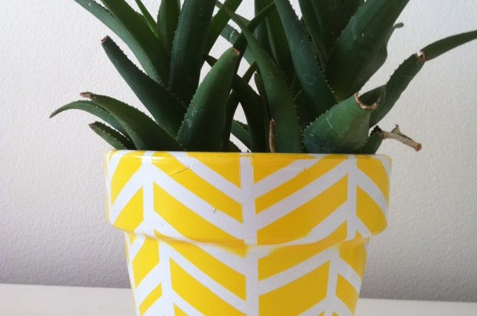 Herringbone Vase And Planter