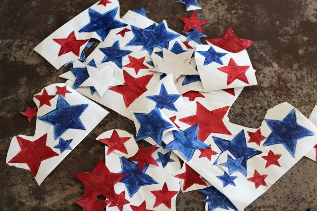 Oh My Stars Patriotic Tea Towel