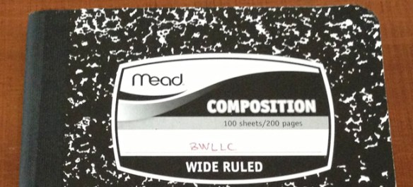 mead composition notebook