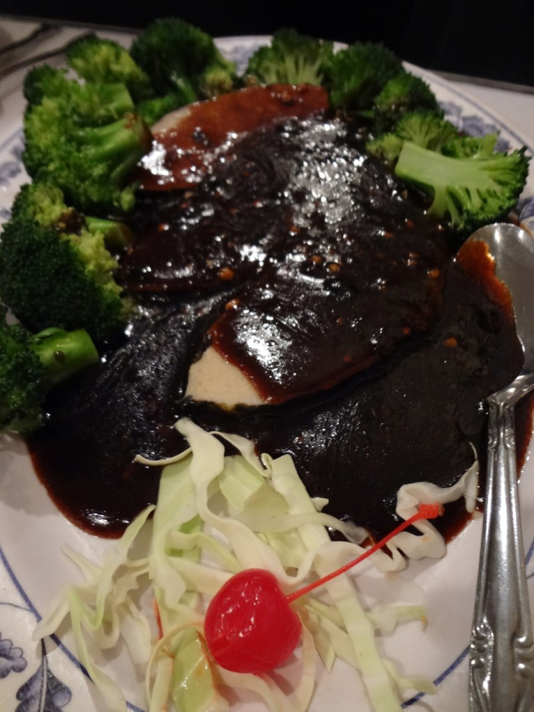 "Vegetarian ""Whole Fish"" in black bean sauce"