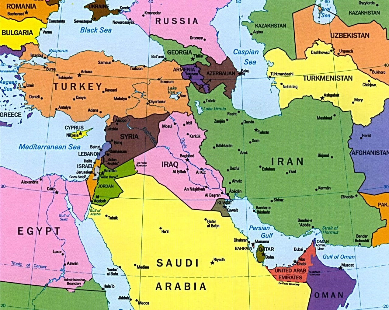 Middle East And Europe Map